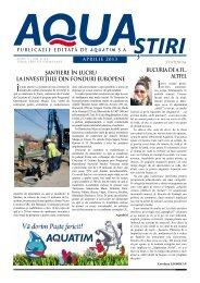AQUA Ştiri nr. 4 (44) / aprilie 2013 - Aquatim