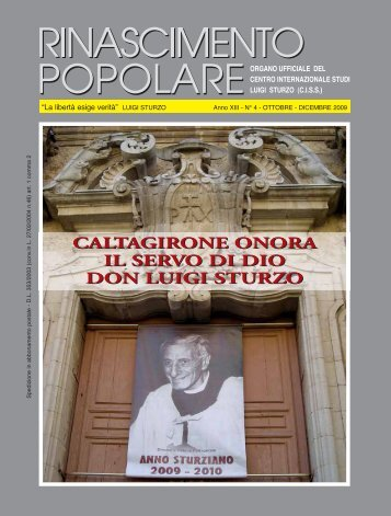 CALTAGIRONE ONORA IL SERVO DI DIO DON LUIGI STURZO ...