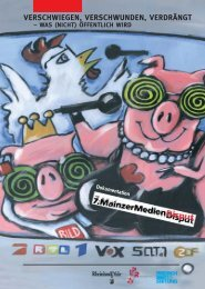 Dokumentation des 7. MainzerMediendisputs (2002) [PDF]