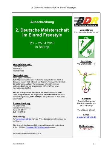 Info - Feriencamp - Einrad im BDR