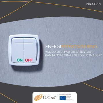 ENERGIEFFEKTIVISERING - - IUC-Trä