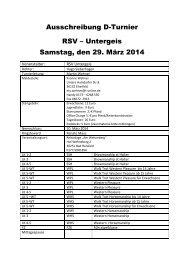 Ausschreibung D-Turnier RSV – Untergeis ... - EWU-Hessen.de