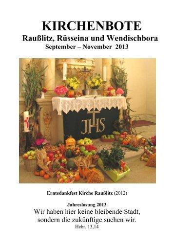 Kirchenbote 2013 Sep-Nov