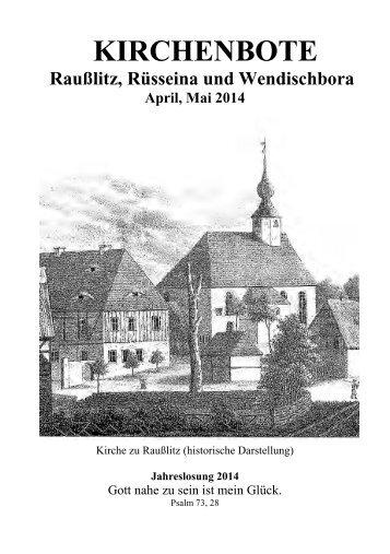 Kirchenbote 2014 Apr-Mai