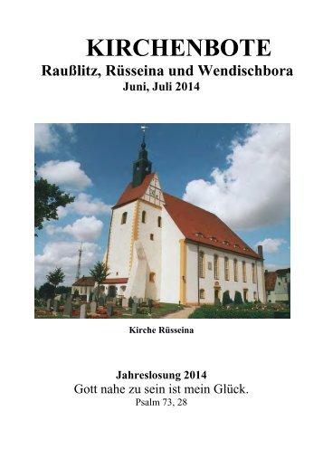 Kirchenbote 2014 Juni-Juli