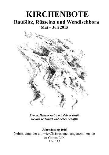 Kirchenbote 2015 Mai-Juli