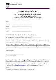 Blankett för ansökan av feriepraktik sommaren 2013 - Grästorps ...
