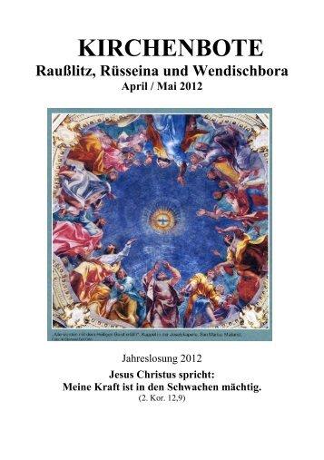 Kirchenbote 2012 Apr-Mai