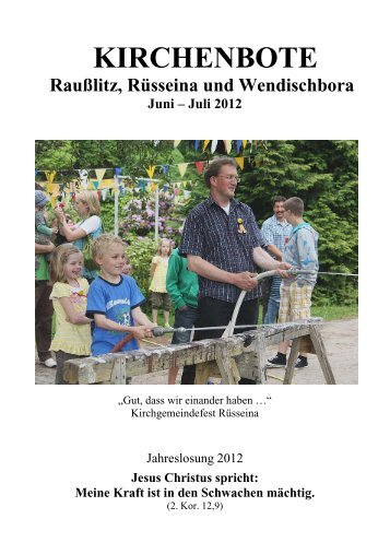 Kirchenbote 2012 Juni-Juli