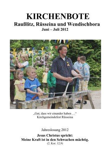 Kirchenbote 2012 Juni-Juli