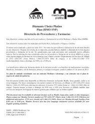 Diamante Choice Platino Plan (HMO SNP) Directorio de ... - MMM