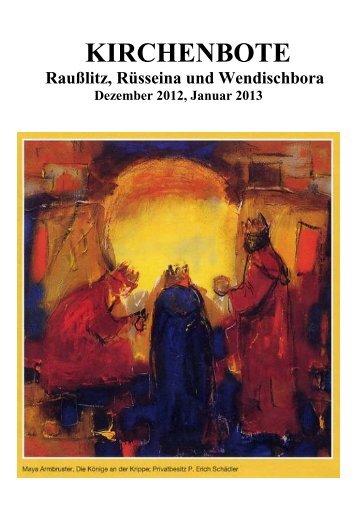 Kirchenbote 2012/13 Dez-Jan