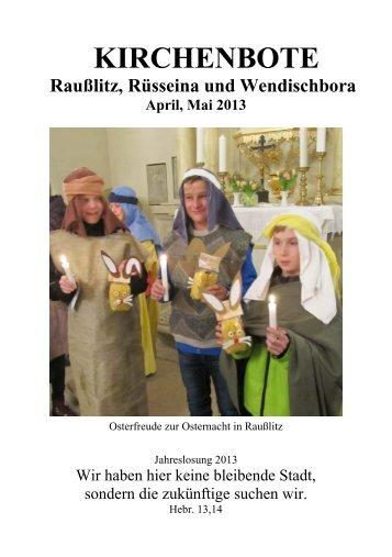 Kirchenbote 2013 Apr-Mai