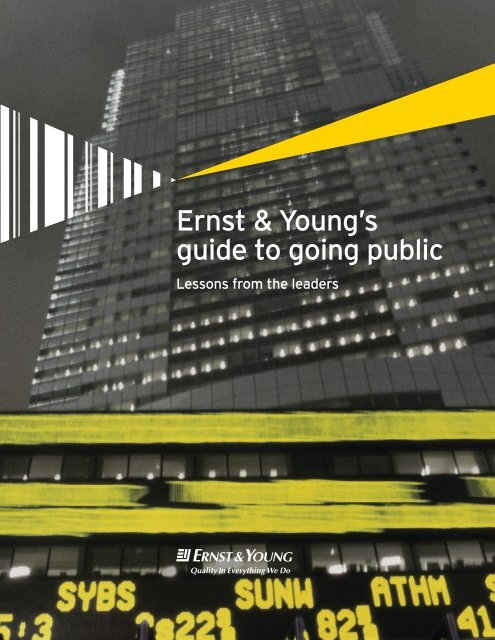 EY Guide to going public pdf - Ubiqus Event Software