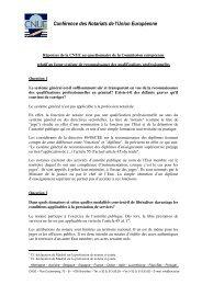 Conférence des Notariats de l'Union Européenne - CNUE