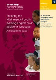 Ensuring the attainment of pupils learning EAL - NALDIC