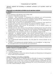 Algemene reglement met betrekking tot ambulante activiteiten op de ...