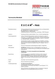 E U C A M – Holz - Endotherm Brandschutz