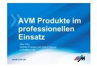 AVM Produkte im professionellen Einsatz - DATAGROUP Bremen ...