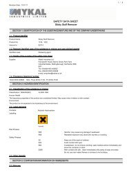 SAFETY DATA SHEET Sticky Stuff Remover - De-Solv-It