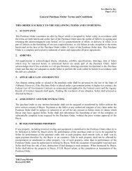 General Purchase Order Terms and Conditions - Tec-Masters, Inc.