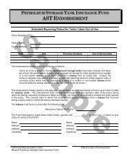 AST Sample Endorsements - Missouri Petroleum Storage Tank ...