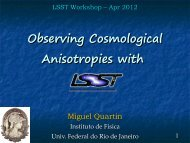 Observing Cosmological Anisotropies with LSST