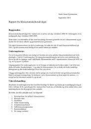 Rapport om klasserumskultur - Sankt Annæ Gymnasium