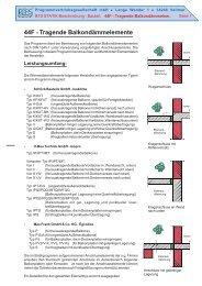 44F - Tragende Balkondämmelemente - PBS Programmvertriebs ...