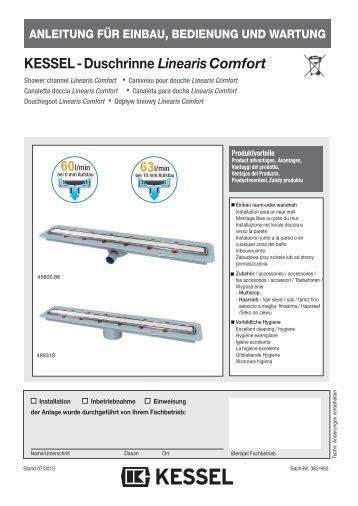 KESSEL-Duschrinne Linearis Comfort