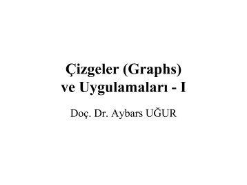 Çizgeler (Graphs) - Dr. Aybars UĞUR