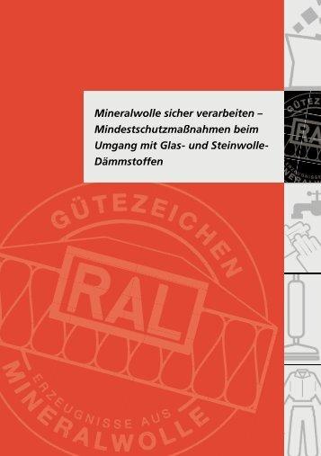 Mineralwolle sicher verarbeiten ... - ENEV-Online.de