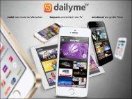 """""""dailyme TV – Mediendaten (Stand: Jun. 2013)"""" herunterladen"""