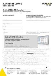 """Education"" der WSCAD E-CAD Software"