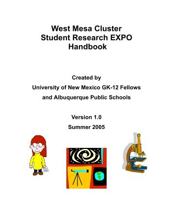 West Mesa Cluster Student Research EXPO Handbook