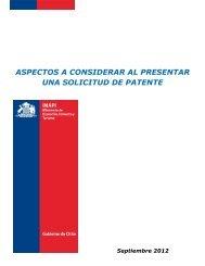 aspectos a considerar al presentar una solicitud de patente - Inapi