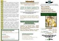 relazioni, benessere e linguaggio in pronto soccorso - Ospedale di ...