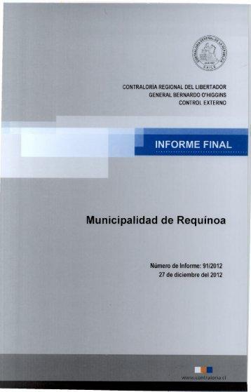 INFORME FINAL - Contraloría General de la República
