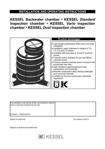 KESSEL - backwater pumping station Pumpfix® F Standard/Comfort