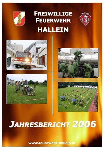 Jahresbericht 2006 - bei der Freiwilligen Feuerwehr Hallein