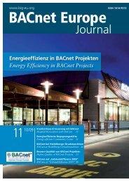 PDF: BACnet Europe Journal 11 - 10/09