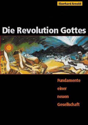 Die Revolution Gottes - Fundamente einer neuen ... - Plough