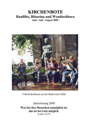 Kirchenbote 2009 Juni-Aug
