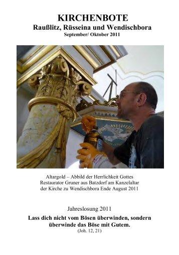 Kirchenbote 2011 Sep-Okt