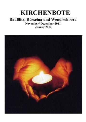 Kirchenbote 2011/12 Nov-Jan