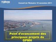 GPMH_présentation_Conseil de l'Estuaire_novembre_2011