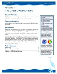 The Great Oyster Mystery Teacher Guide - Estuaries NOAA