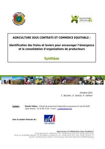 Synthèse - la Plate-Forme pour le Commerce Équitable