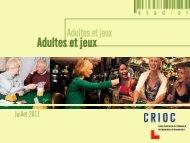 Adultes et jeux - Crioc