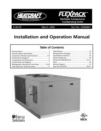 Installation and Operation Manual - Bohn